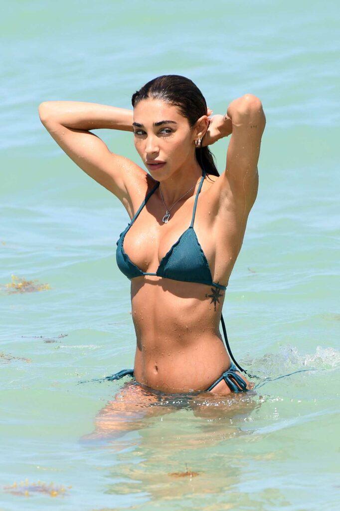 Chantel Jeffries in a Blue Bikini