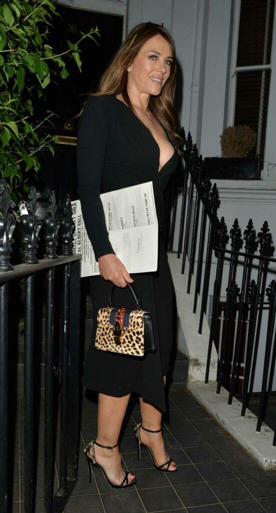Elizabeth Hurley in a Black Dress