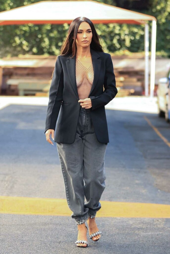Megan Fox in a See-Through Blouse