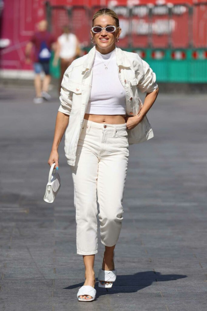 Ashley Roberts in a White Outfit