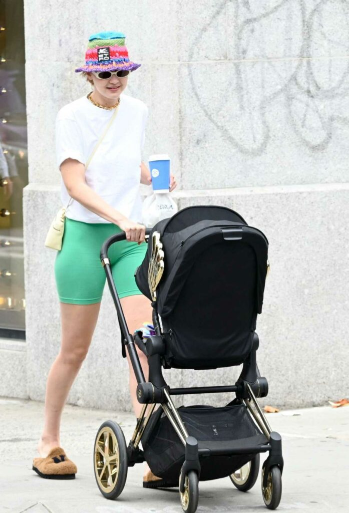 Gigi Hadid in a White Tee