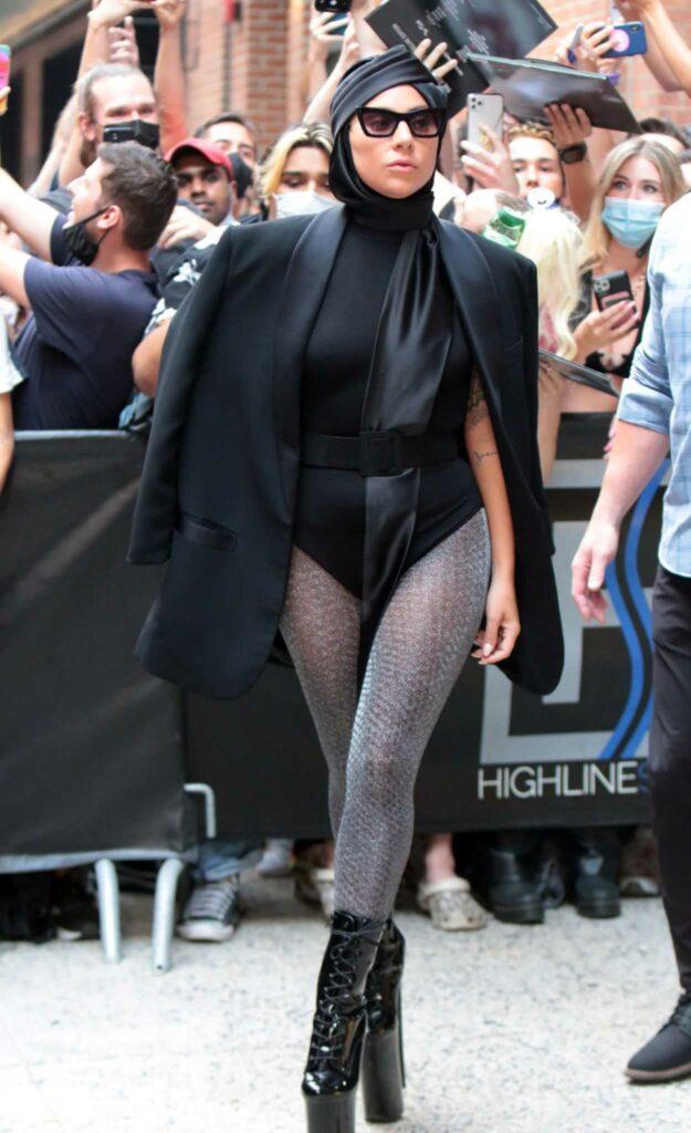 Lady Gaga in a Black Blazer