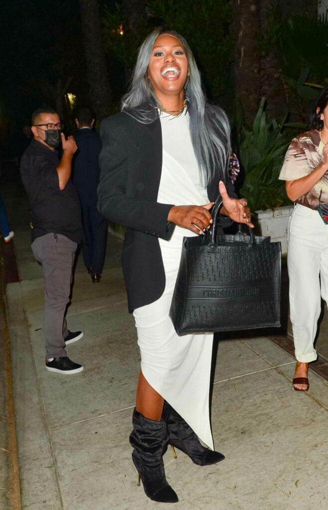 Laverne Cox in a White Dress