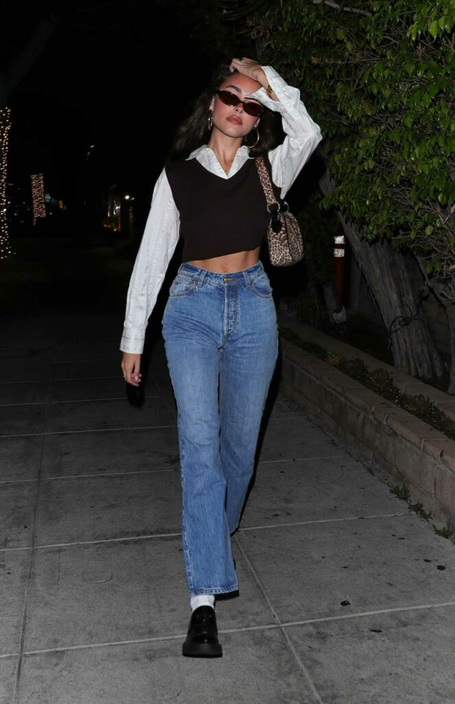 Madison Beer in a Blue Jeans