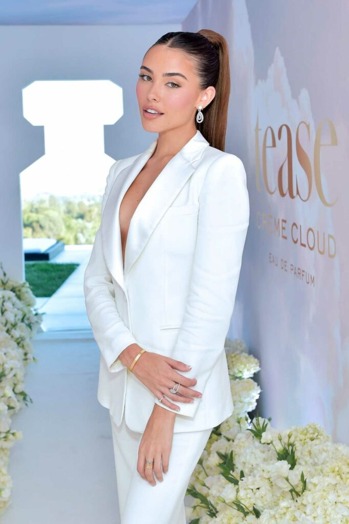 Madison Beer in a White Suit