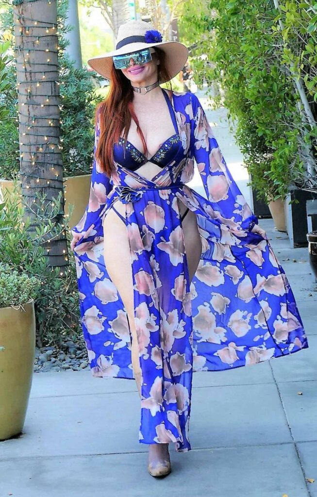 Phoebe Price in a Floral Dress
