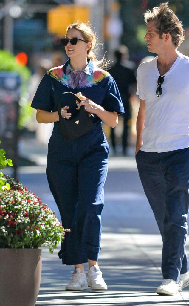 Jennifer Lawrence in a Blue Jumpsuit