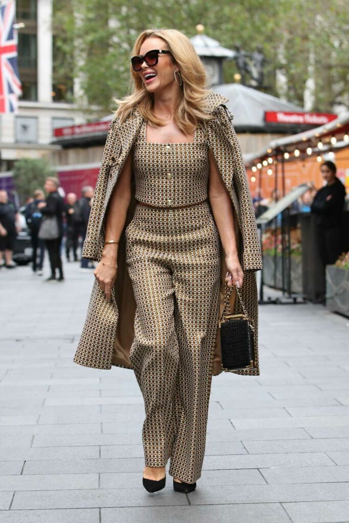 Amanda Holden in a Patterned Ensemble
