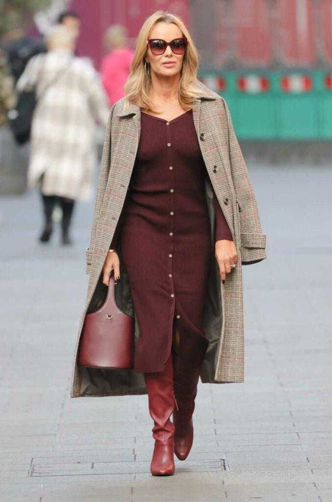 Amanda Holden in a Plaid Coat