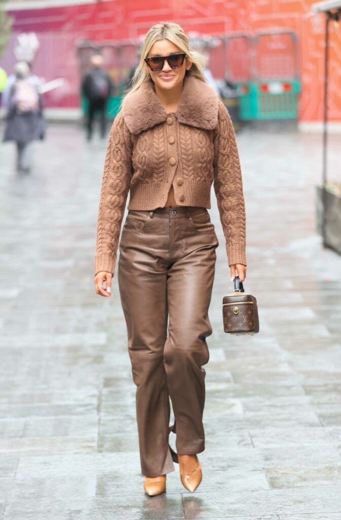 Ashley Roberts in a Brown Outfit