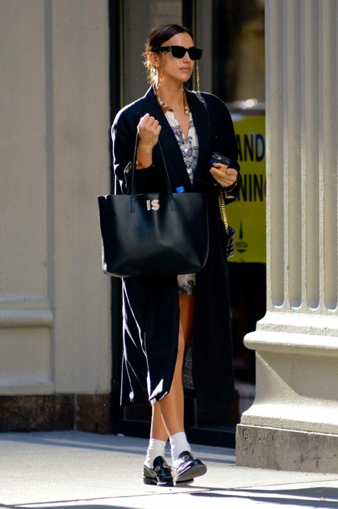 Irina Shayk in a Black Coat