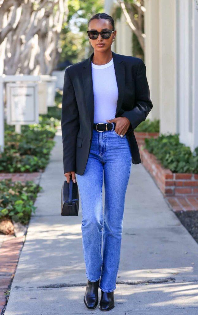 Jasmine Tookes in a Black Blazer