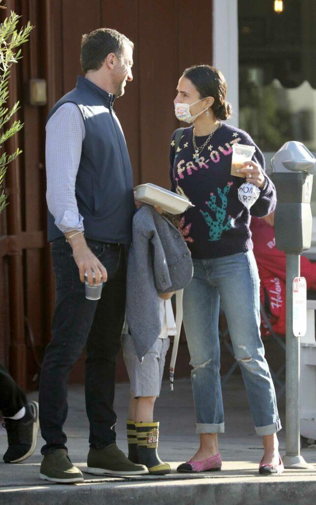 Jordana Brewster in a Blue Ripped Jeans