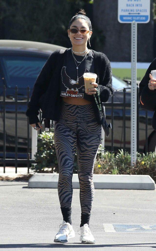 Vanessa Hudgens in a Black Cardigan