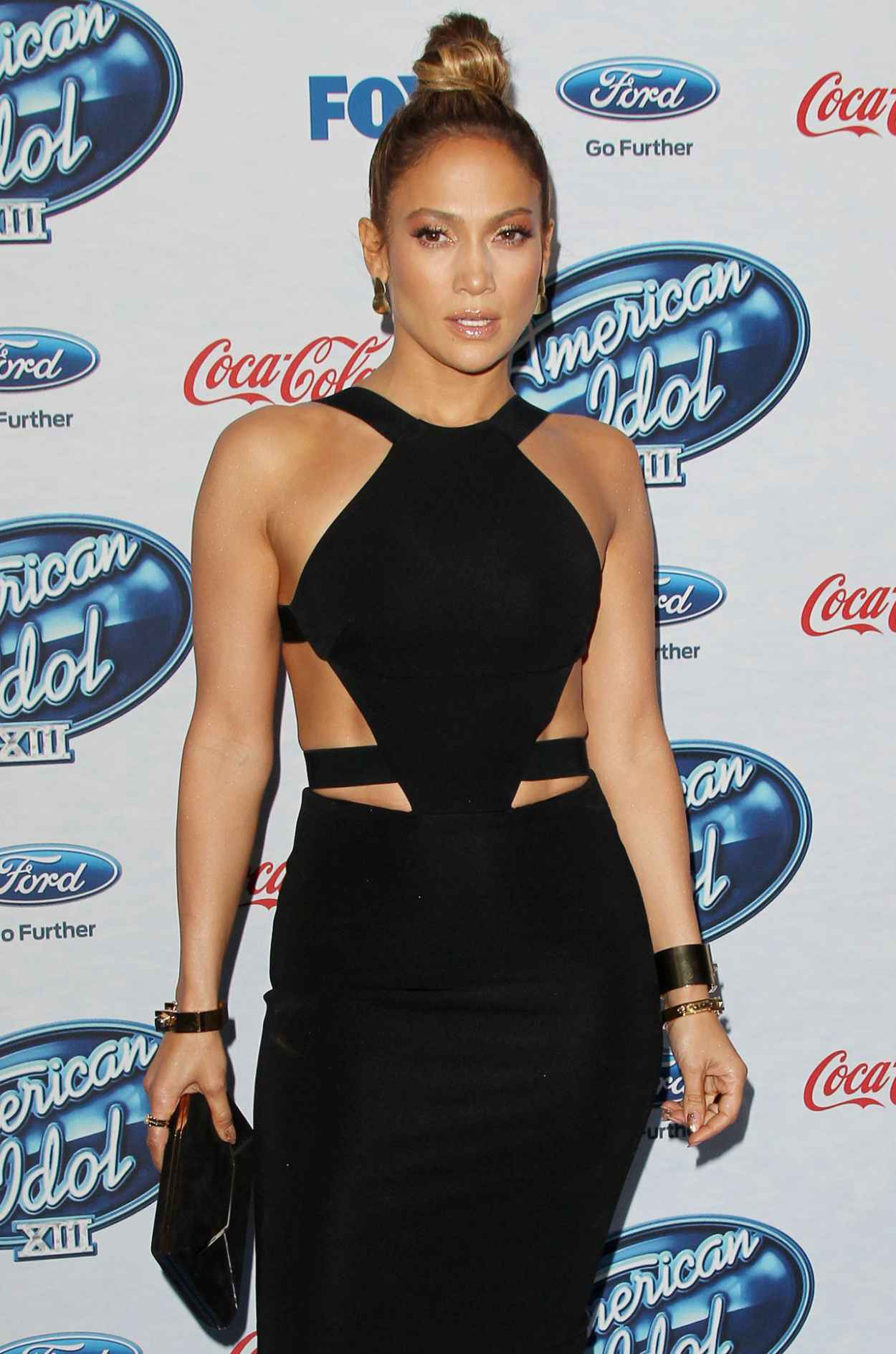 Jennifer Lopez Wearing Cushnie Et Ochs Dress - -American Idol- XIII Finalists Party-1