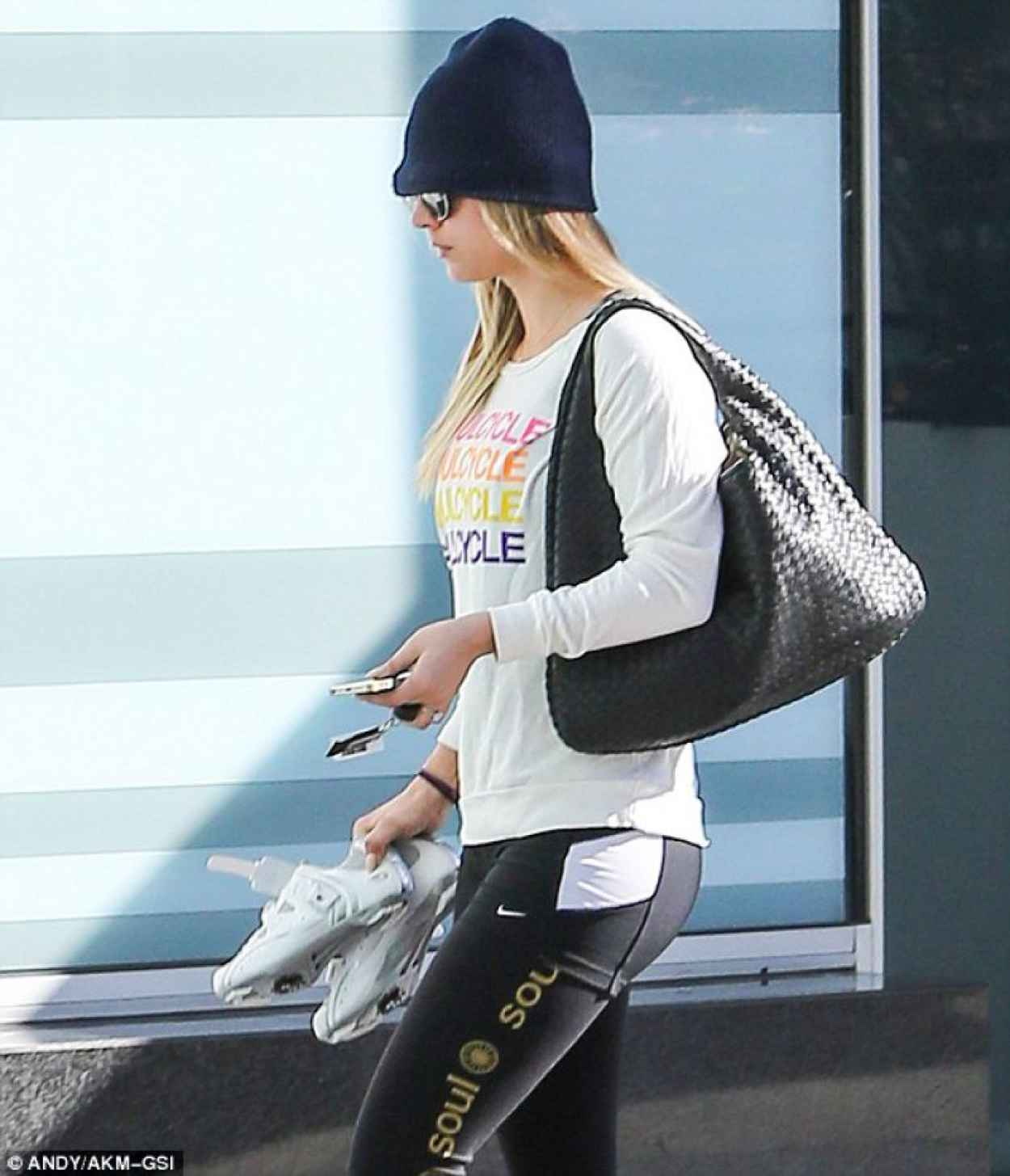 Kaley Cuoco Attends SoulCycle in West Hollywood-1