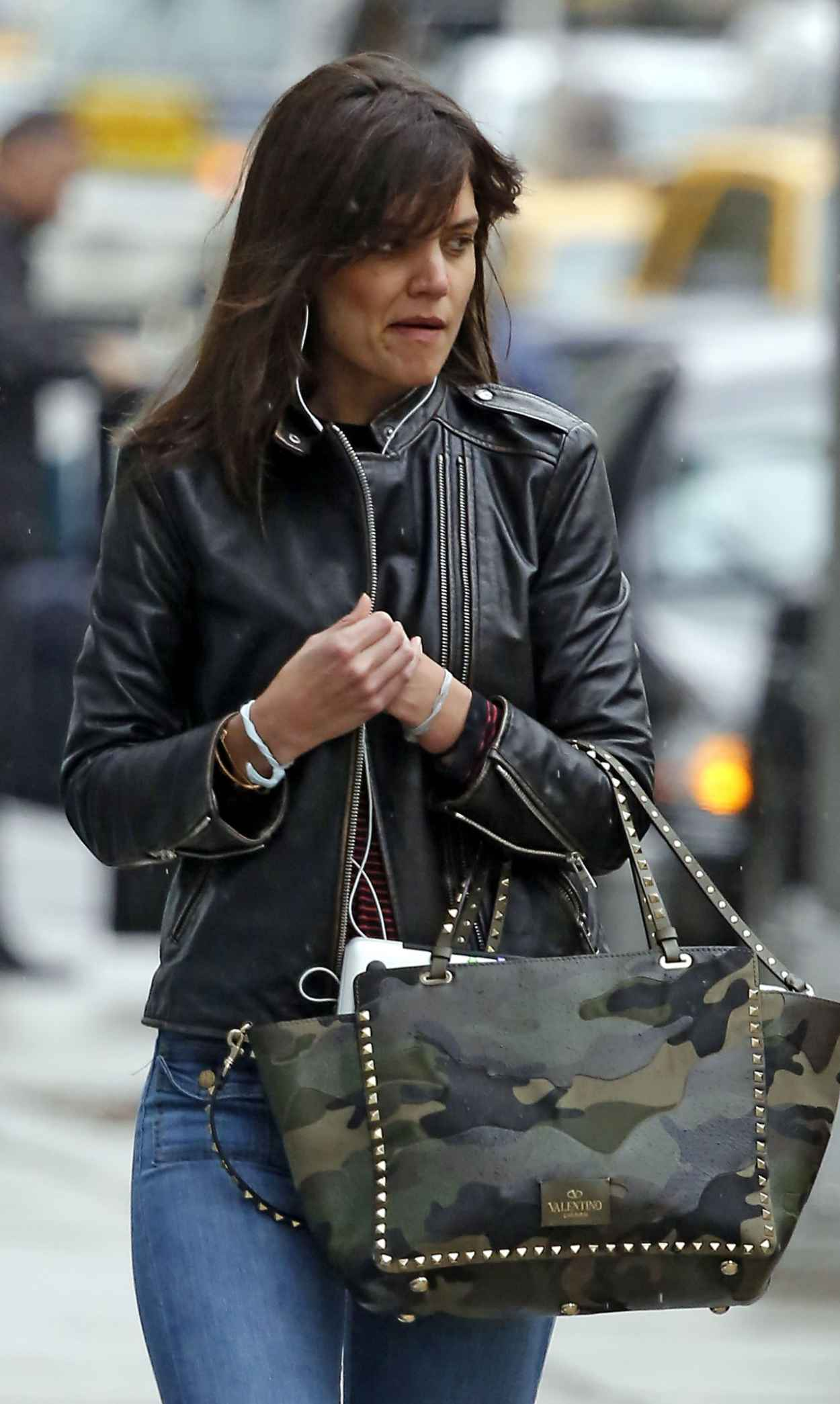 Katie Holmes Street Style Out In New York City April
