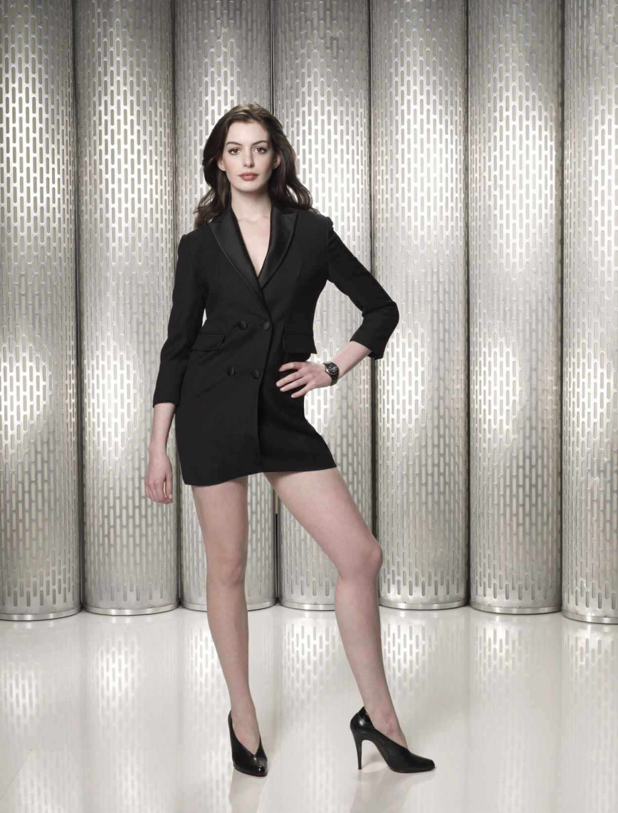 Anne Hathaway Leggy in High Heels - Get Smart Photoshoot-1