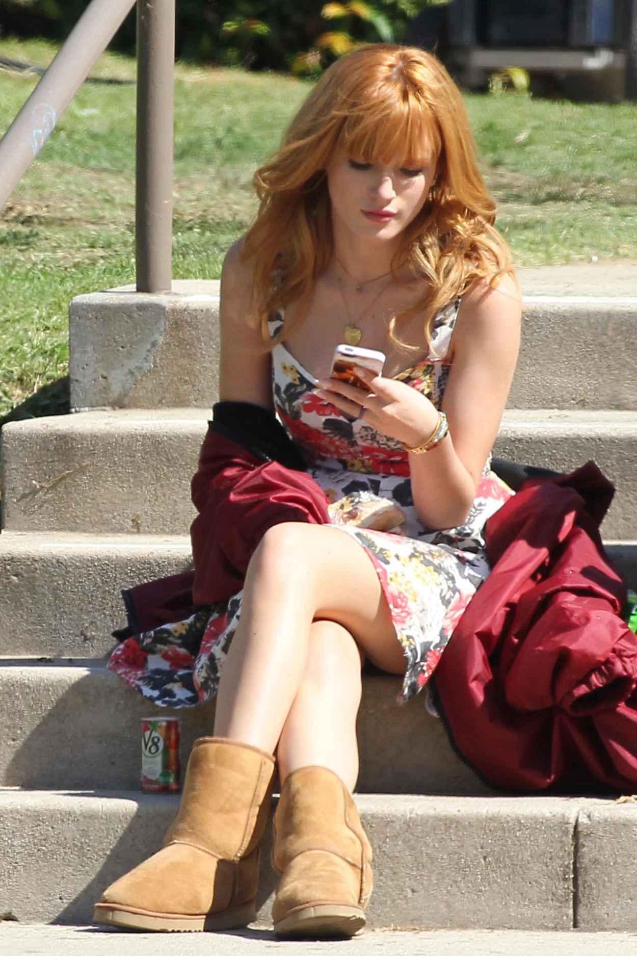 Bella Thorne On Set of Her New Movie ALEXANDER-1