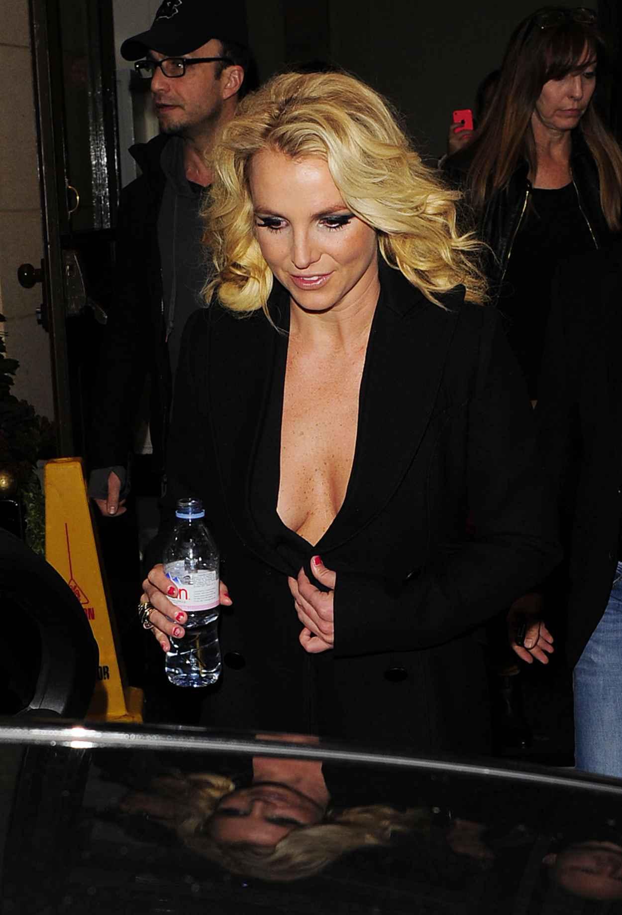 Britney Spears Street Style - in a Low-Cut Dress-1