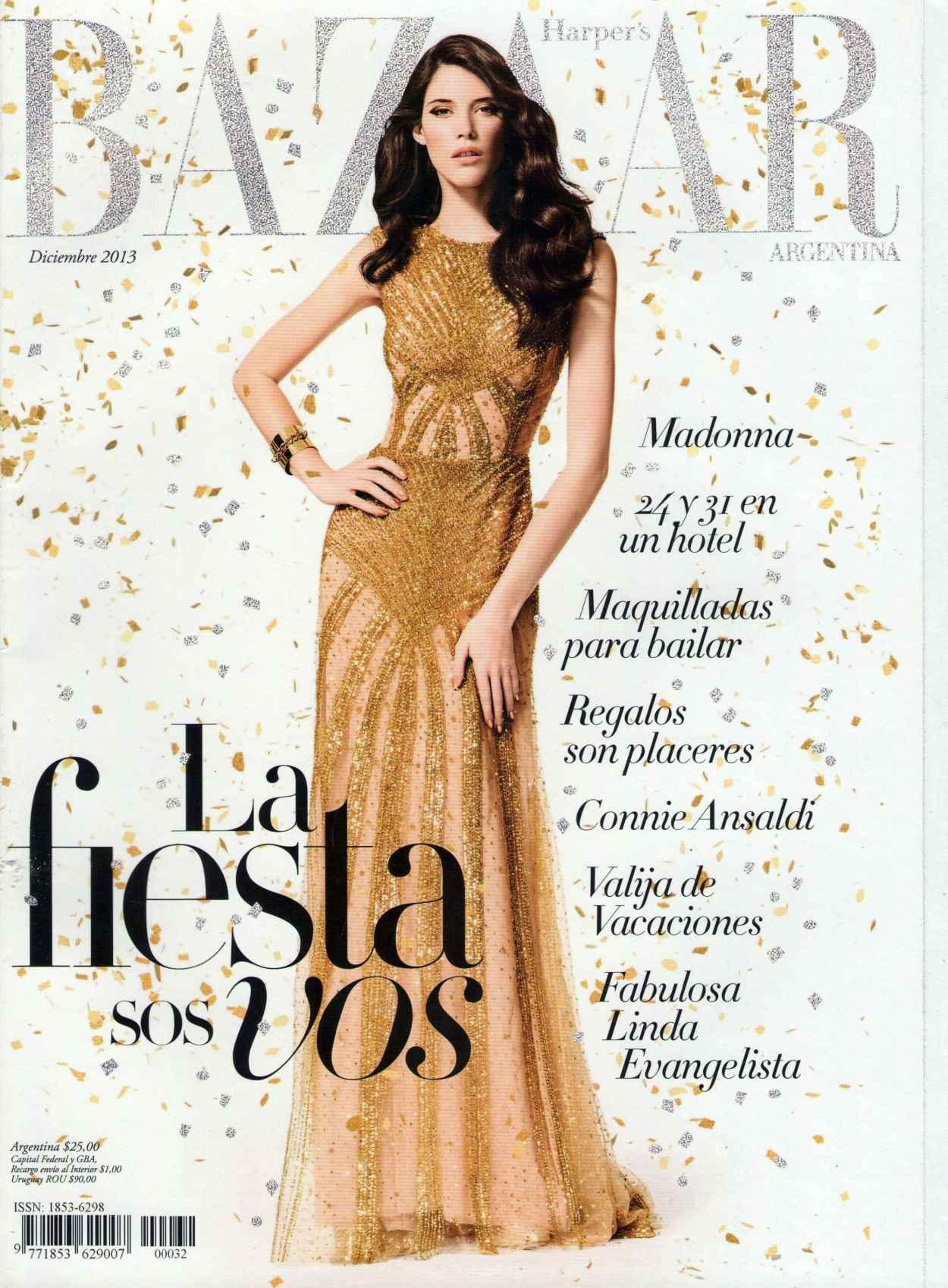 Carla Ciffoni - HARPERS BAZAAR (Argentina) - December 2015 Issue-1