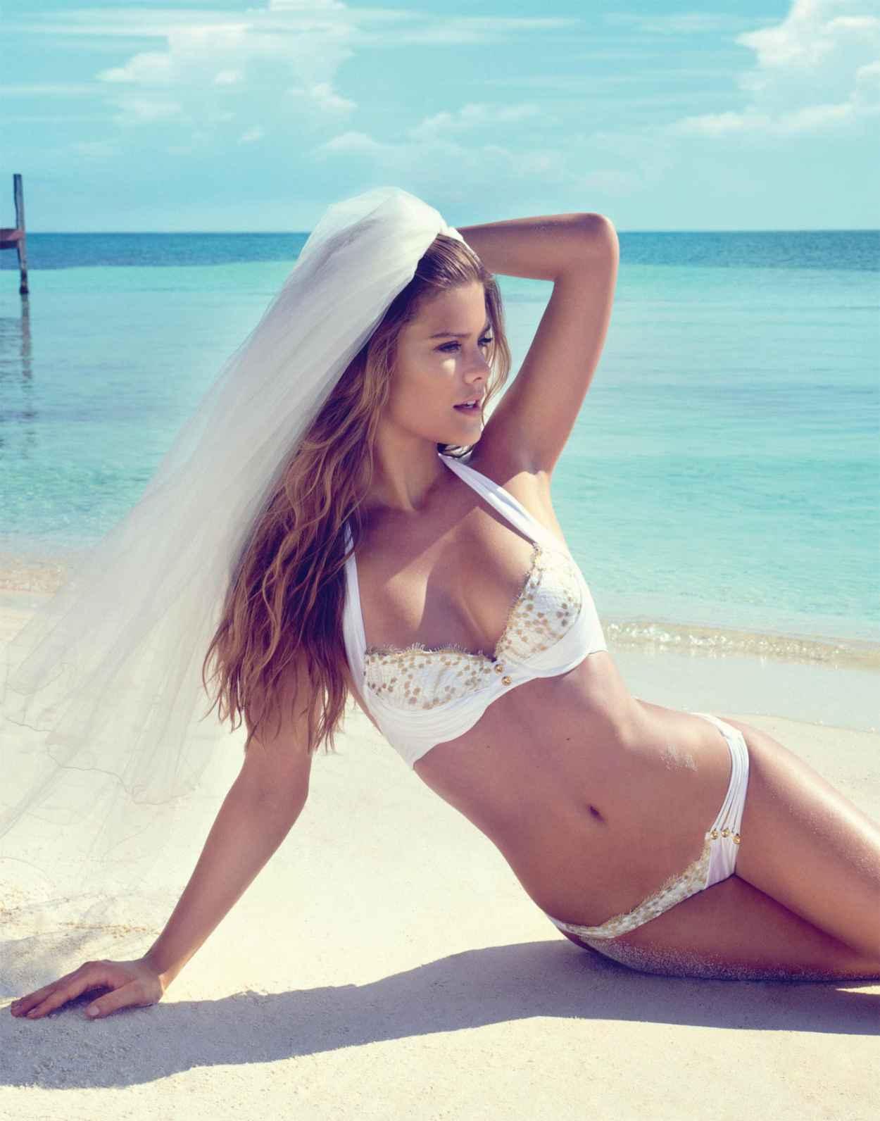 Nina Agdal Photoshoot - Beach Bunny Bride 2015-1