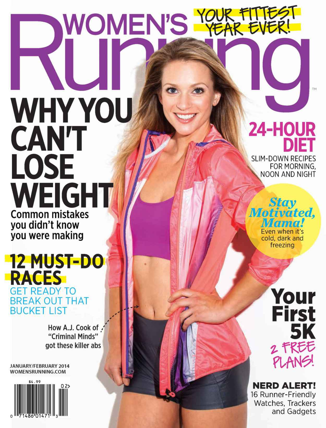 A.J. Cook - WOMENS RUNNING Magazine - January/February 2015 Issue-1