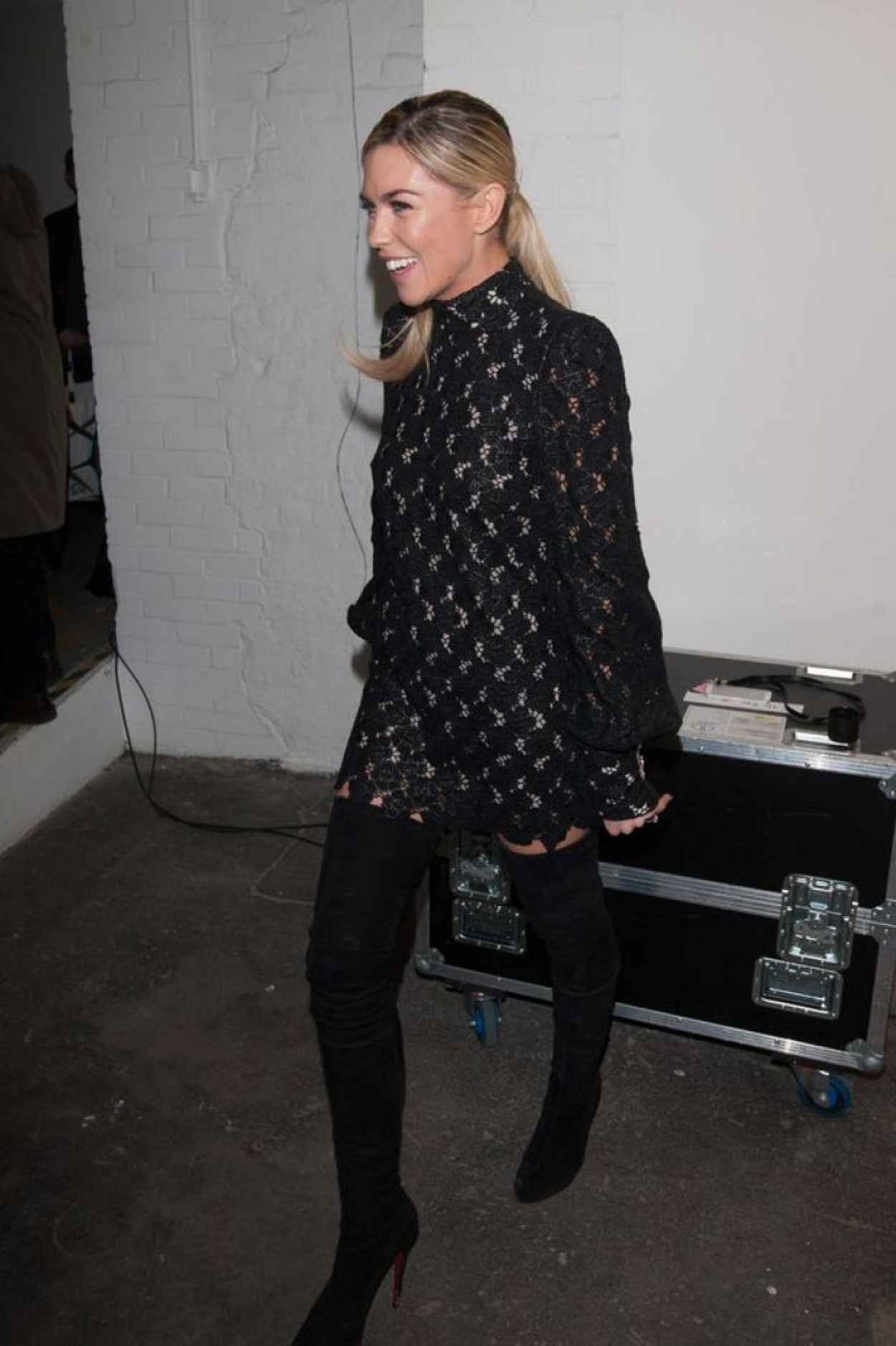 Abbey Clancy - Giles Show at London Fashion Week, February 2015-1
