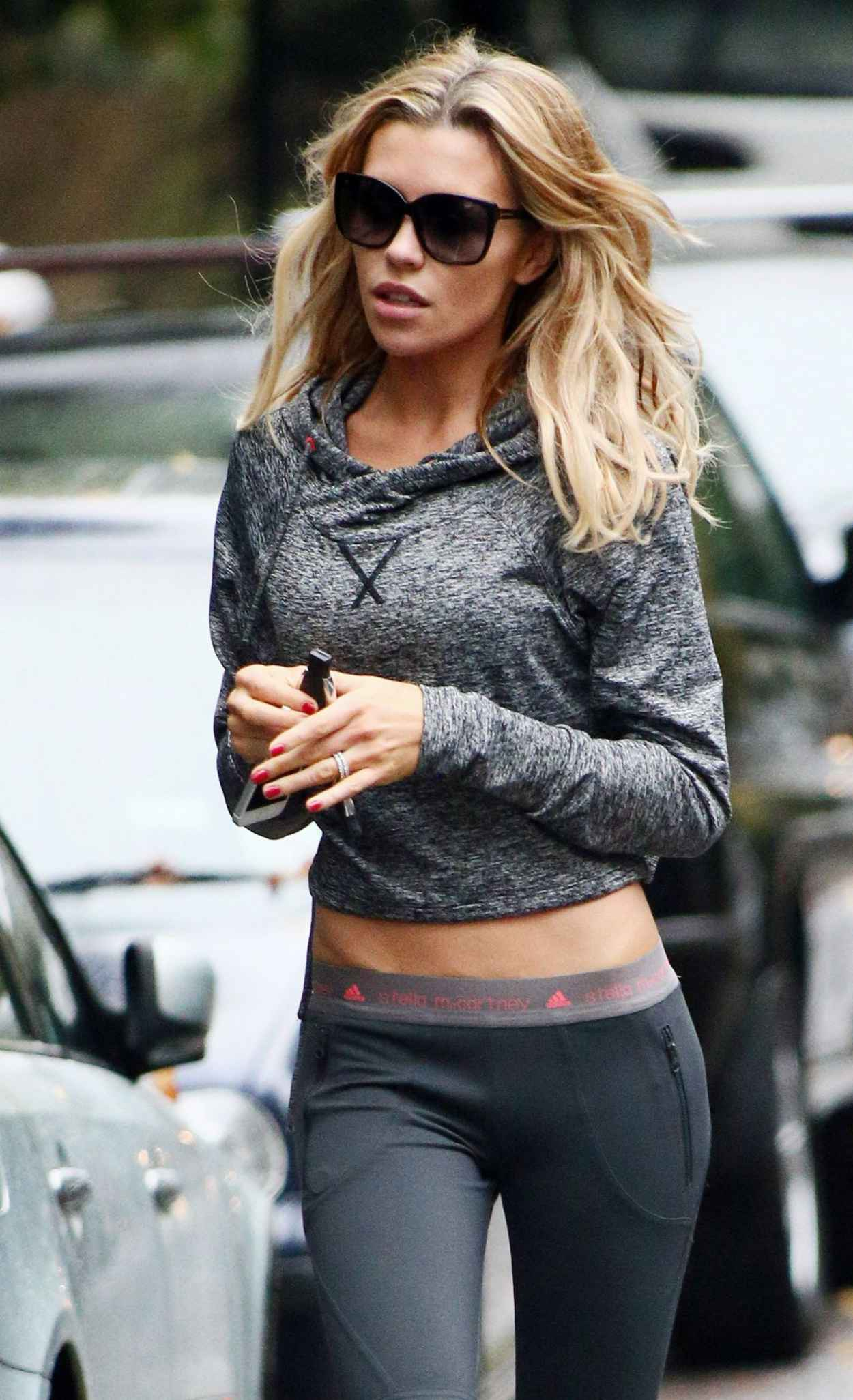 Abbey Clancy Street Style - Shows Off Her Dancer Figure-1