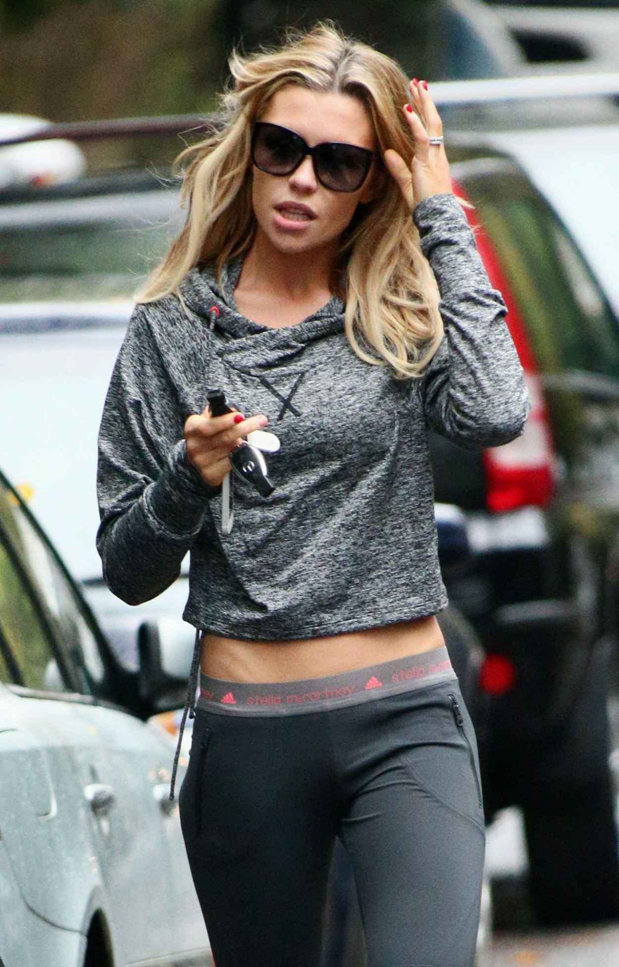Abbey Clancy Street Style - Shows Off Her Dancer Figure-2