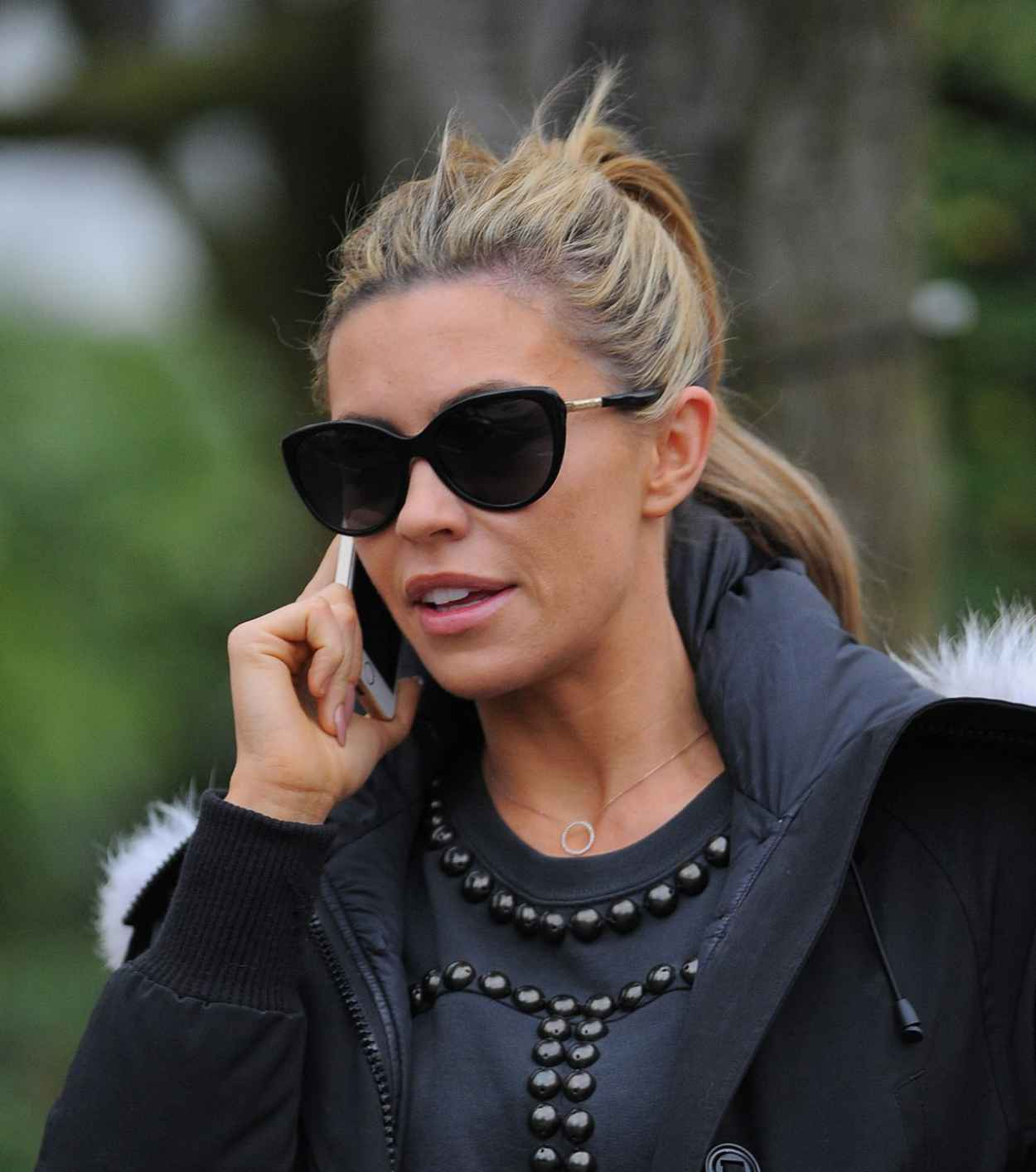Abbey Clancy Street Style - North London - January 9, 2015-1