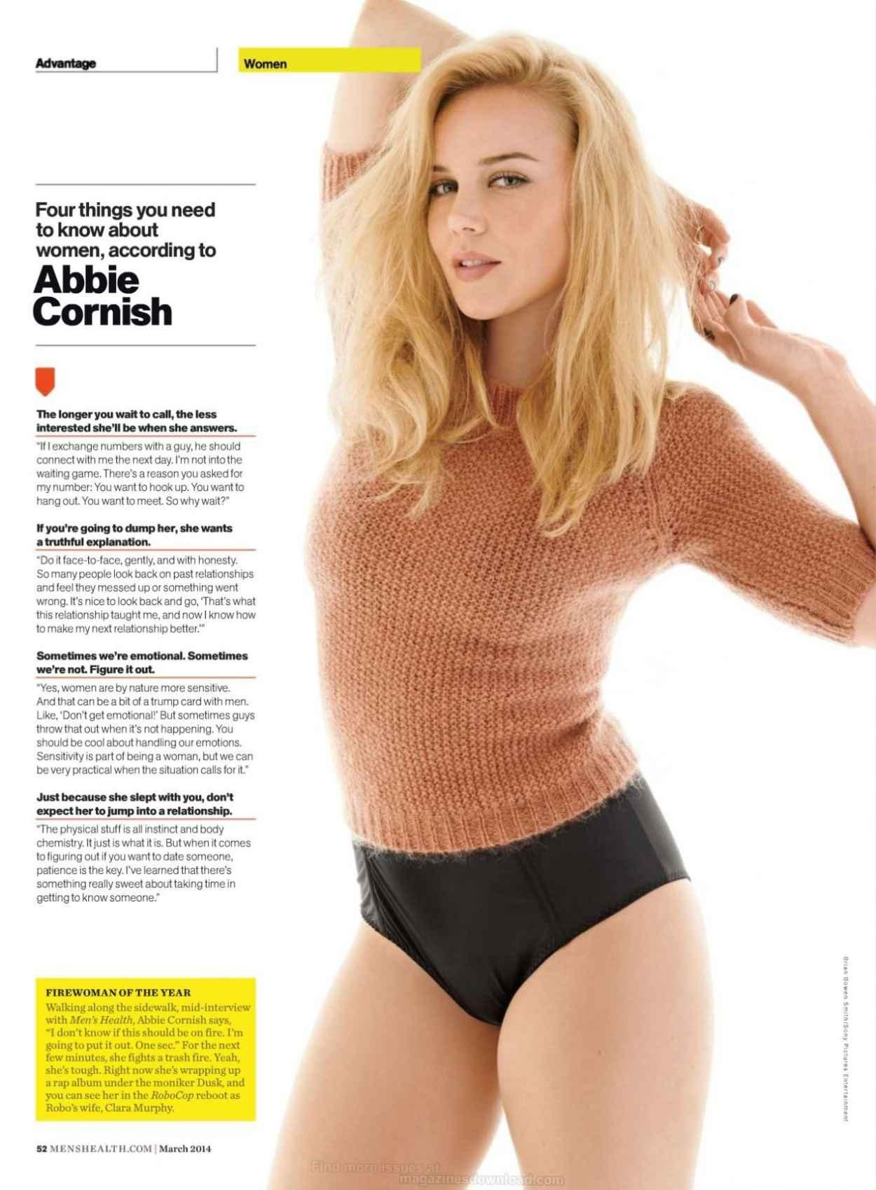 Abbie Cornish - MENS HEALTH Magazine - March 2015 Issue-1