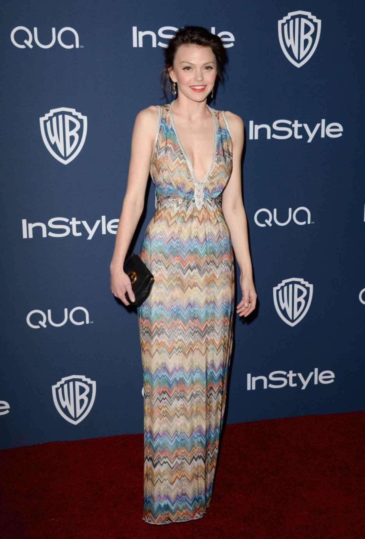 Aimee Teegarden - InStyle & Warner Bros. 2015 Golden Globes Afterparty in Beverly Hills-1
