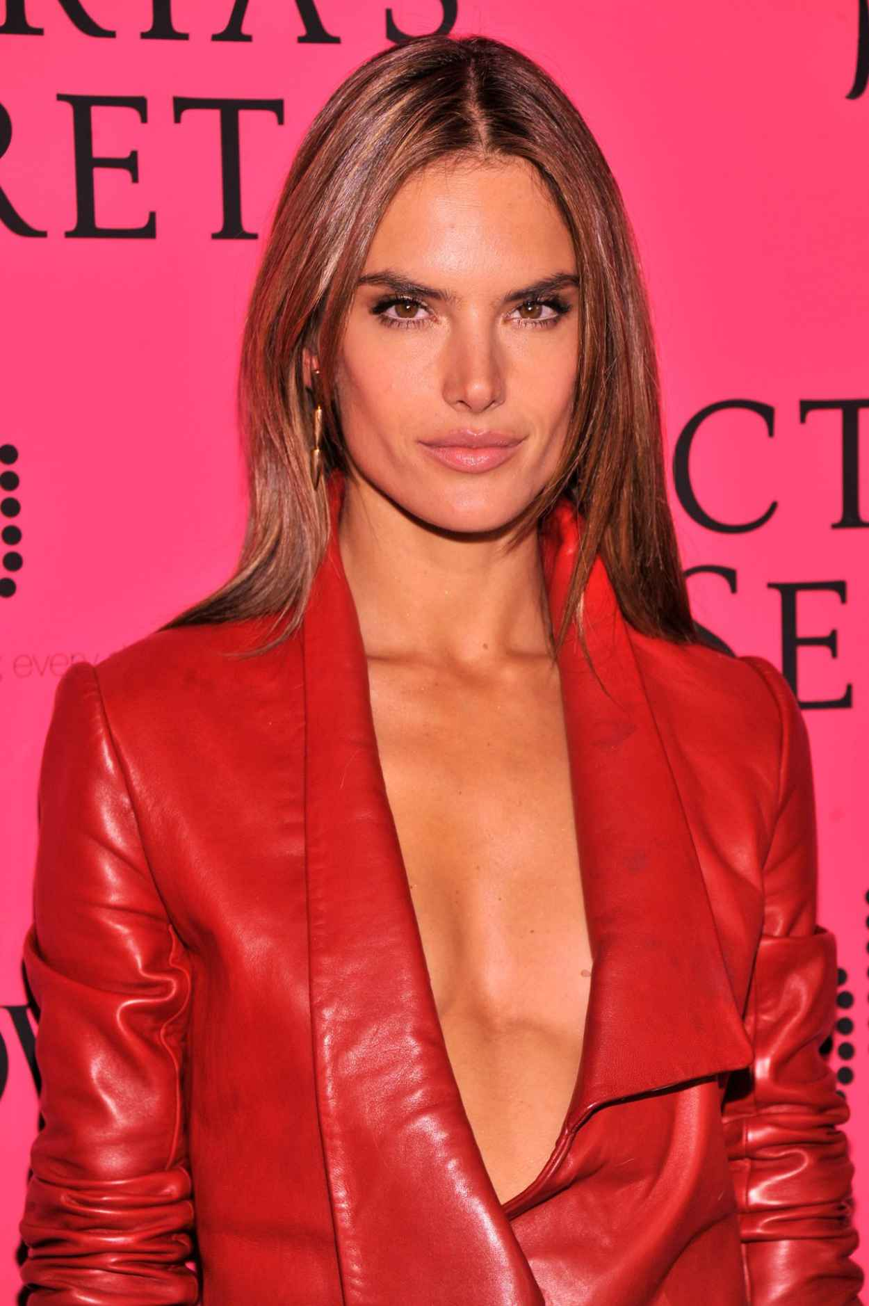 Alessandra Ambrosio in Red on Red Carpet - Victorias Secret Fashion After Party at TAO Downtown New York, November 2015-1