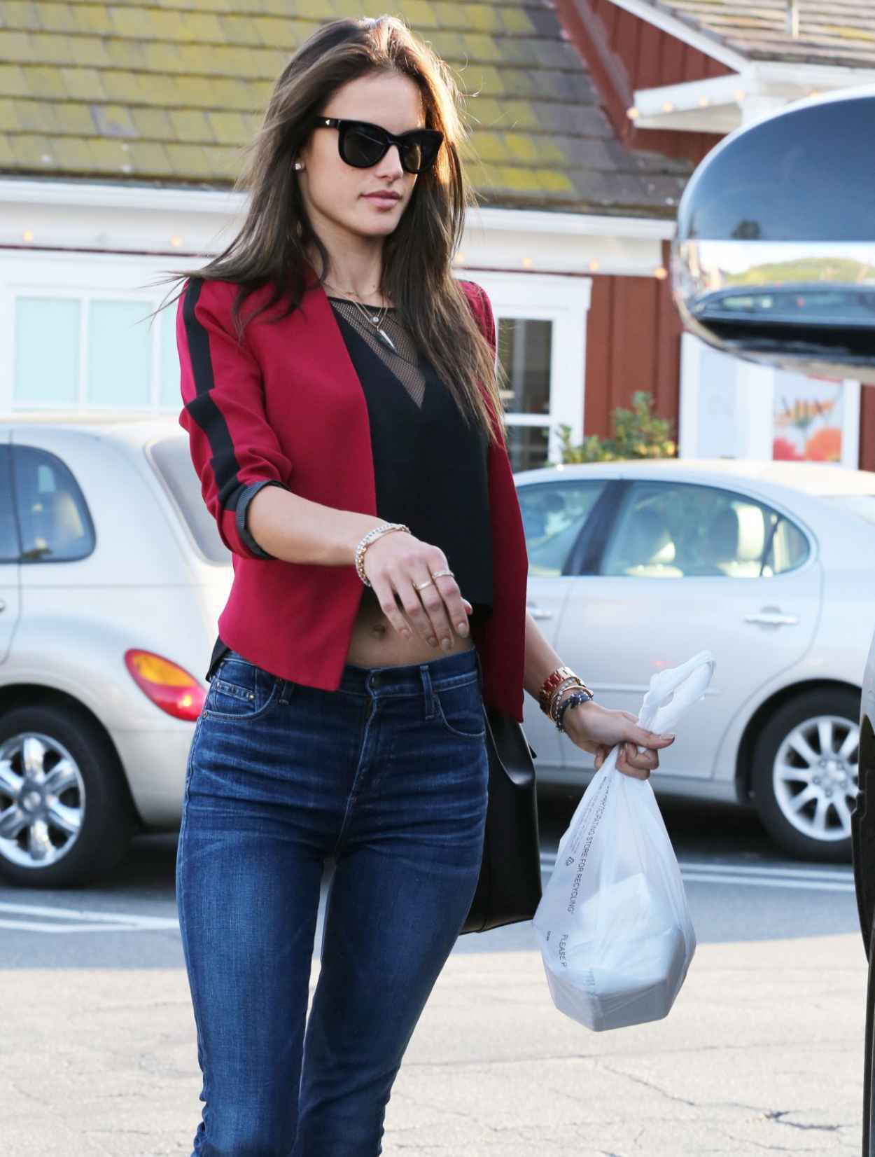 Alessandra Ambrosio in Tight Jeans - Out in Brentwood, February 2015-1