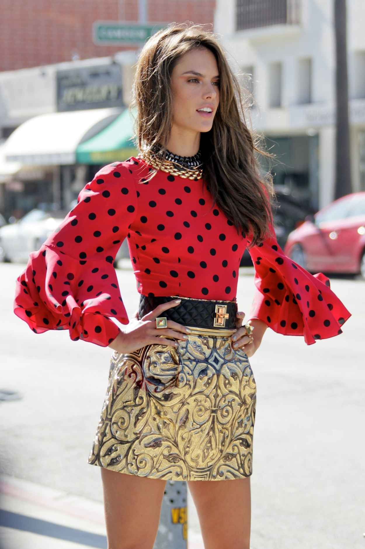 Alessandra Ambrosio Photo Shoot Set Candids in Beverly Hills-1
