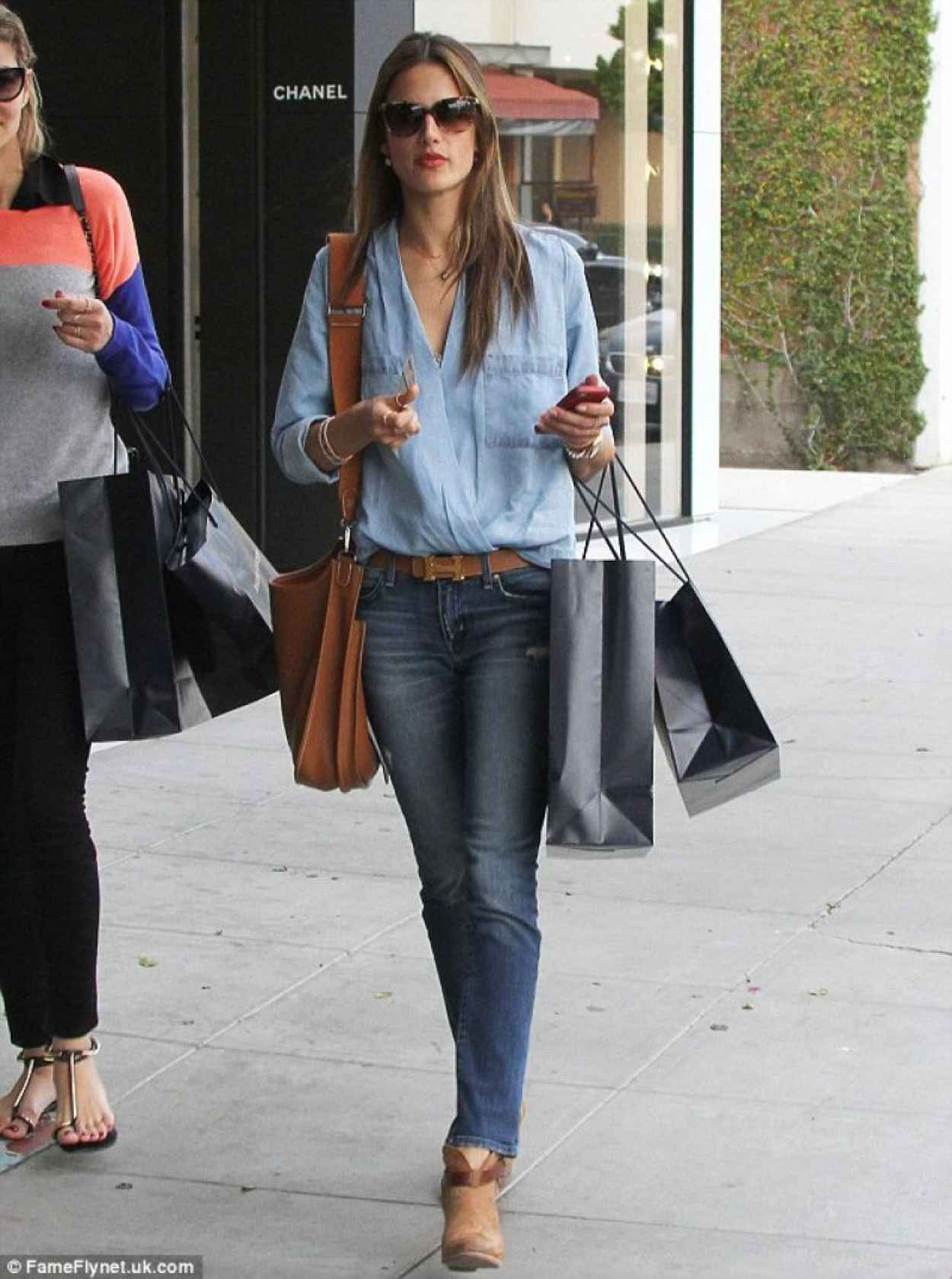 Alessandra Ambrosio Street Style – in Skinny Jeans Out for ...