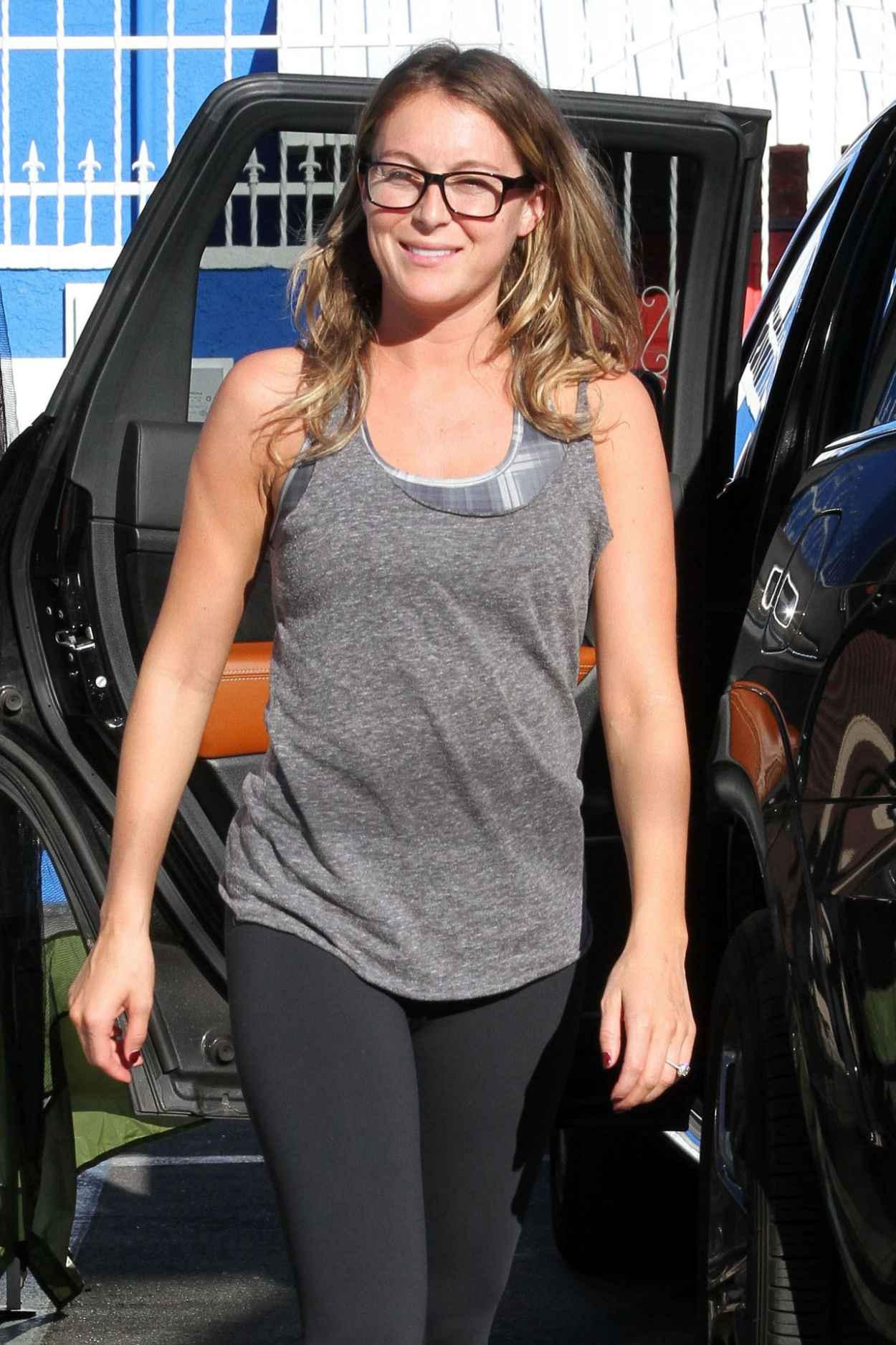 Alexa Pena Vega in Leggings - DWTS Studio in Hollywood, September 2015-2