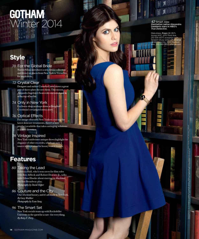 Alexandra Daddario - GOTHAM Magazine - Winter 2015-1