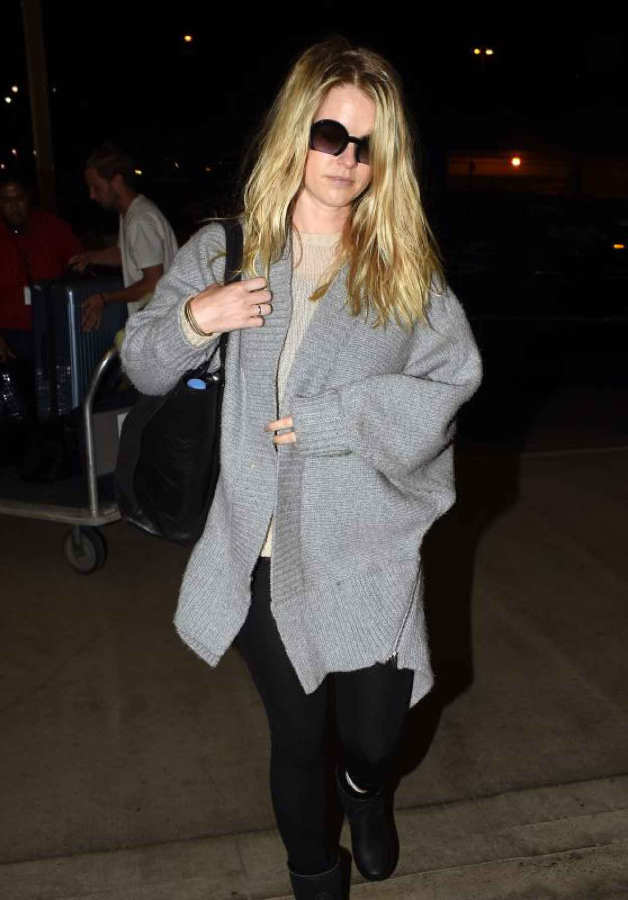 Alice Eve - at LAX Airport in Los Angeles, October 2015-1