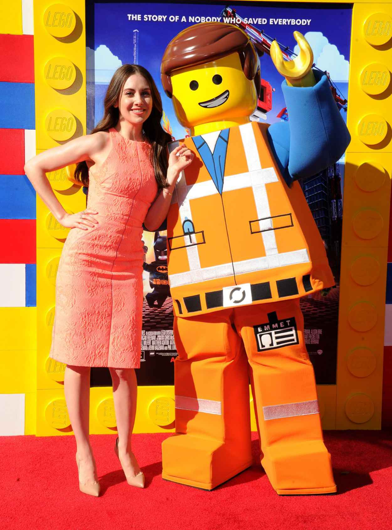 Alison Brie - THE LEGO MOVIE Premiere in Los Angeles-1