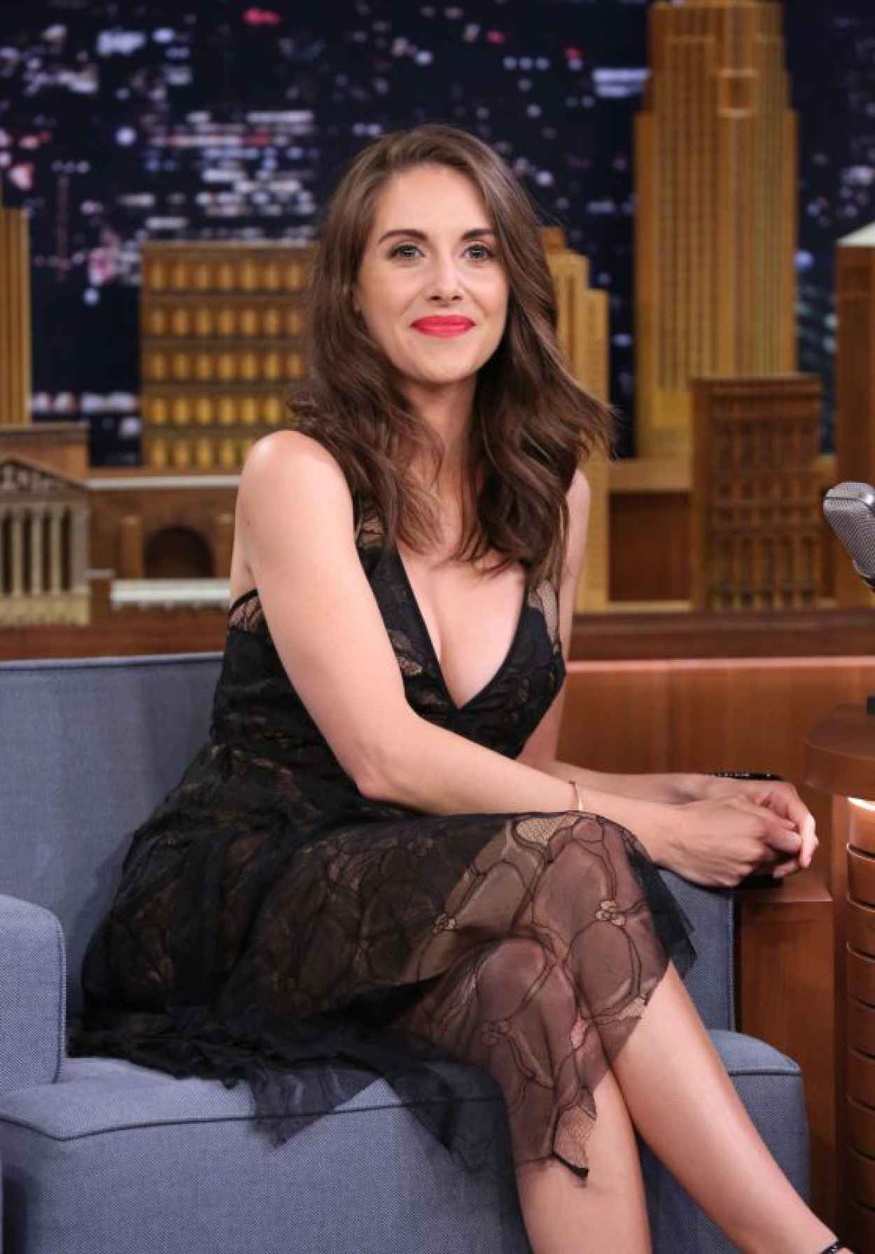 Alison Brie - The Tonight Show with Jimmy Fallon in New York City, September 2015-1