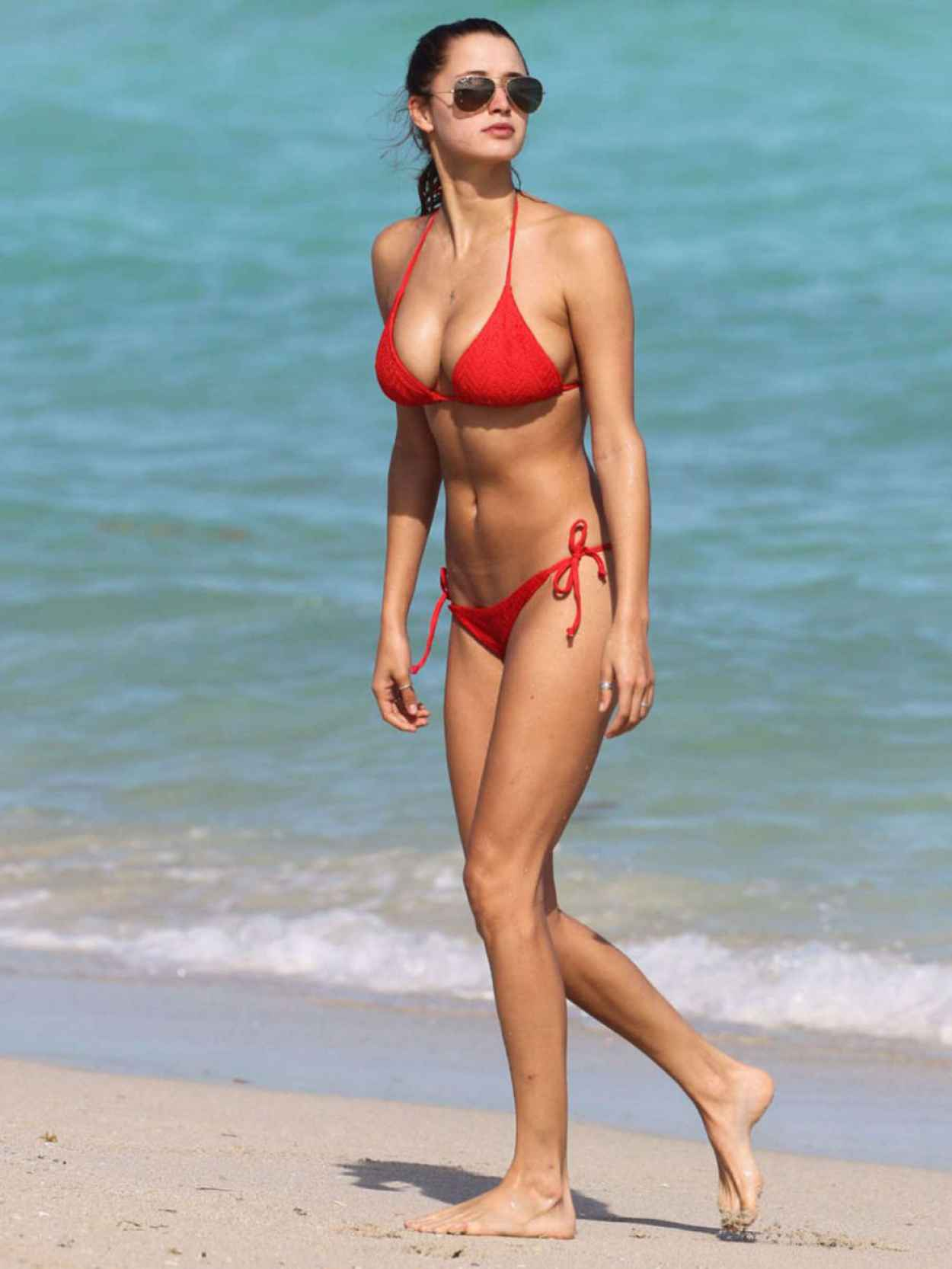 Alyssa Arce in a Bikini on the Beach in Miami - November 2015-1