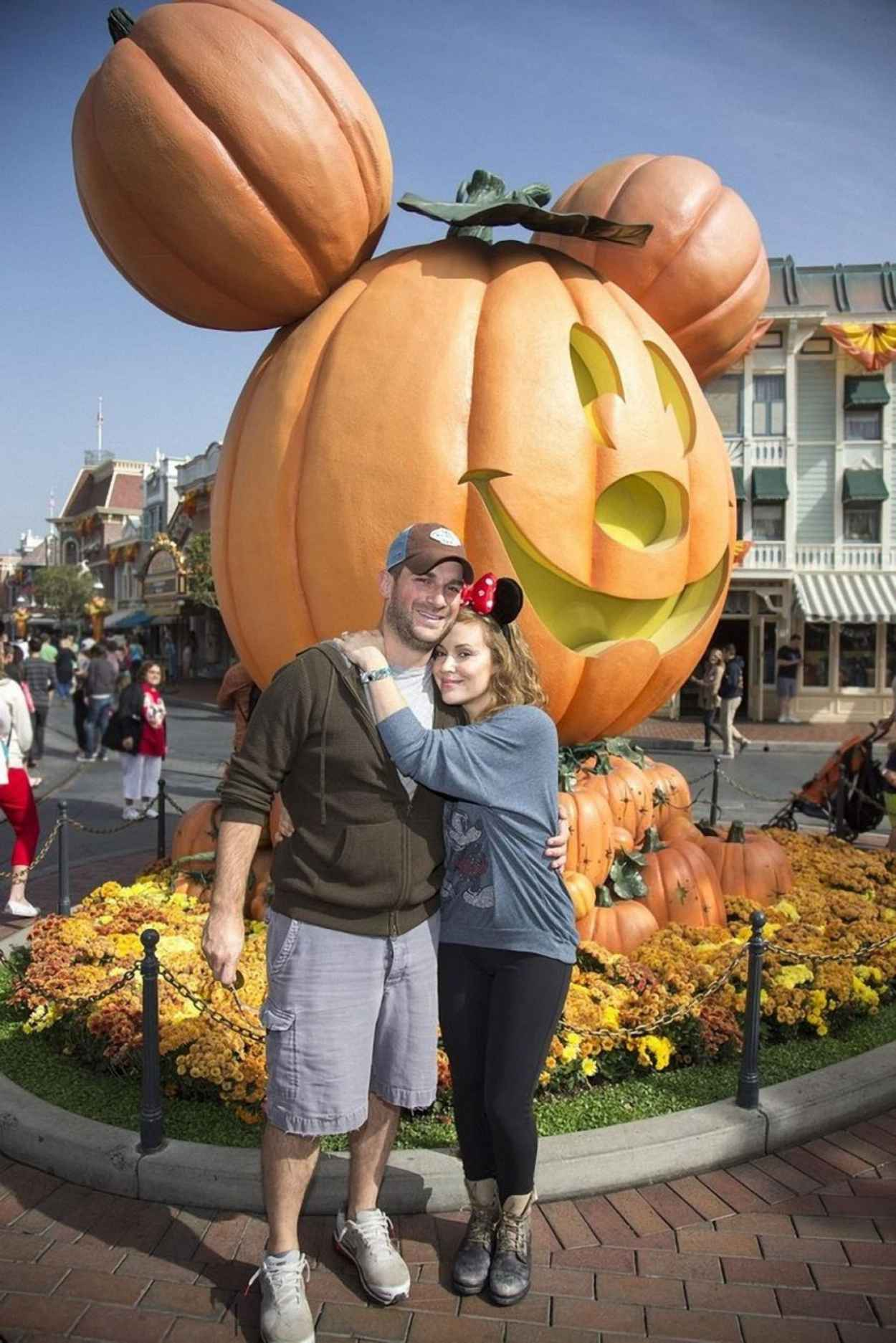 Alyssa Milano and David Bugliari Celebrate Halloween Time at Disneyland-1