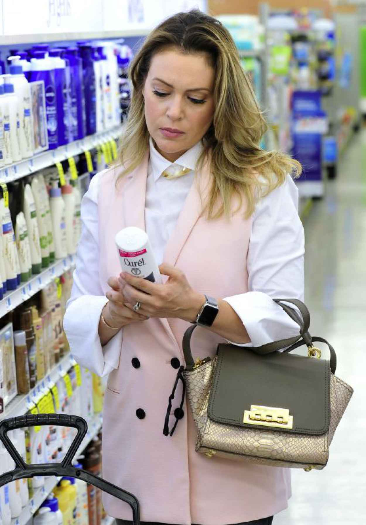 Alyssa Milano - Shopping in Los Angeles, October 2015-1