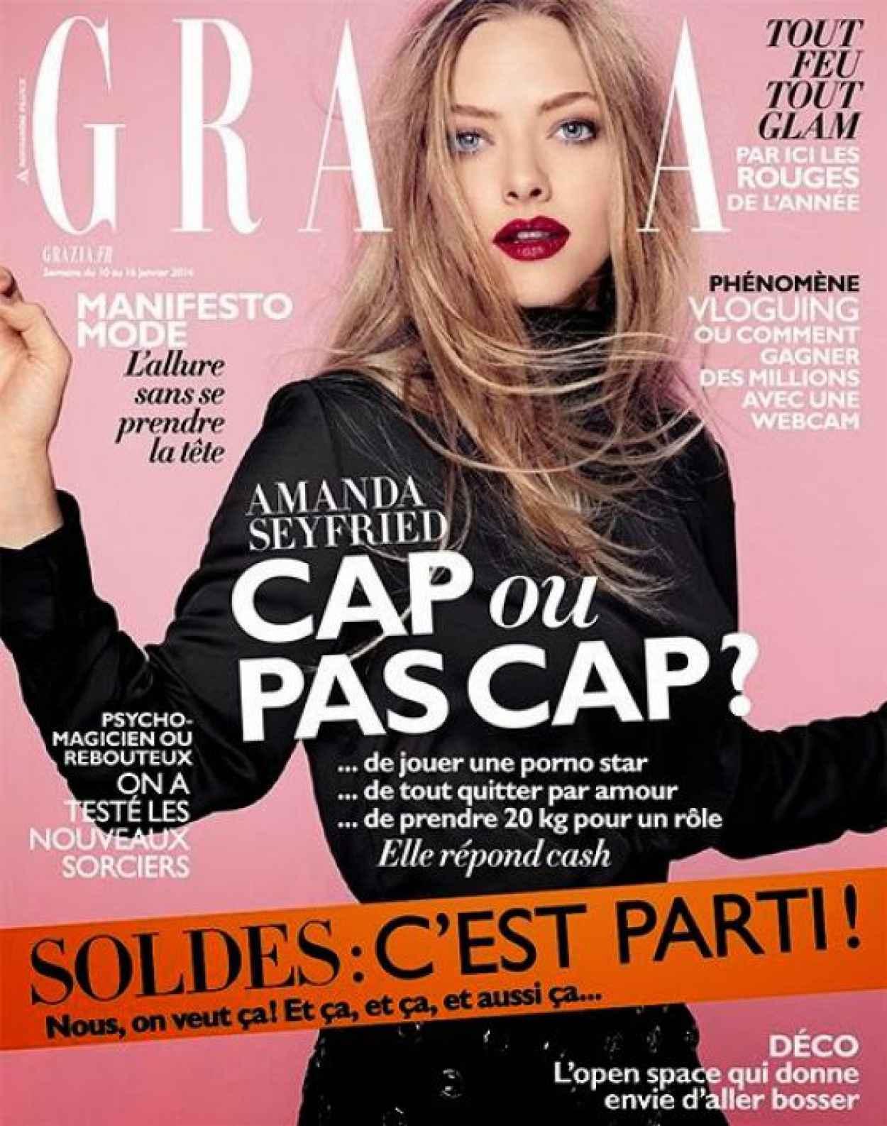 Amanda Seyfried - GRAZIA Magazine (France) - January 2015 Cover-1