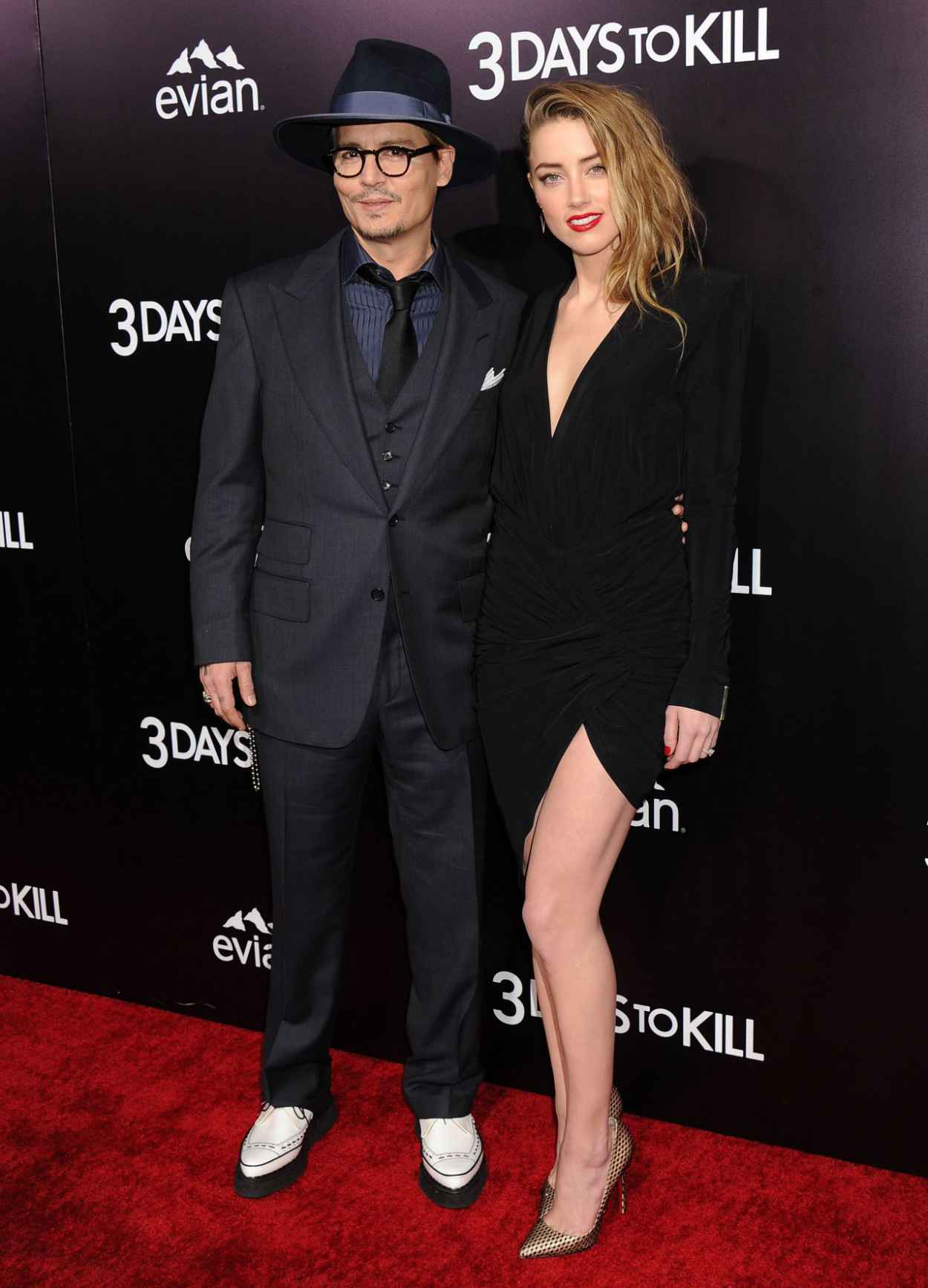 Amber Heard and Johnny Depp - 3 Days To Kill Premiere in Los Angeles, Feb. 2015-1