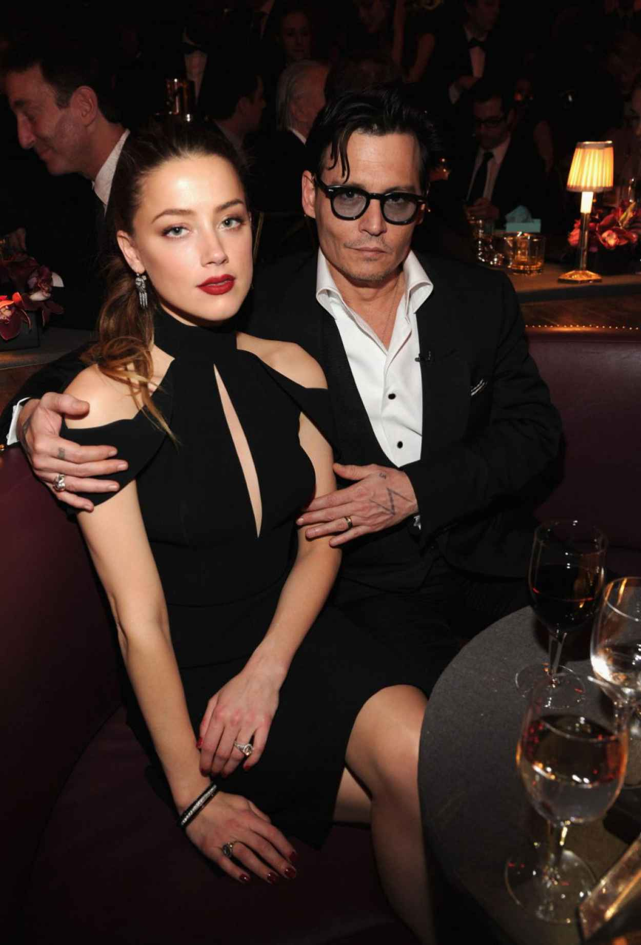 Amber Heard and Johnny Depp - Spike TVs Don Rickles One Night Only Show in NYC - May 2015-1