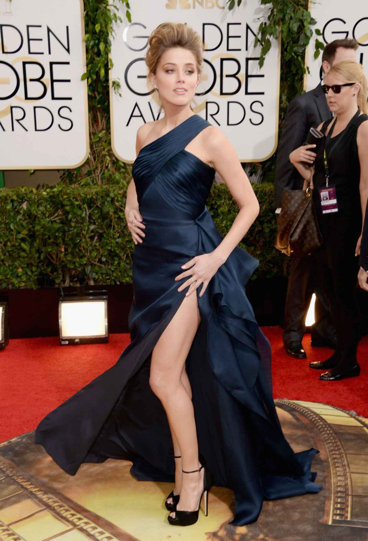 Amber Heard at Golden Globe Awards, January 2015-1