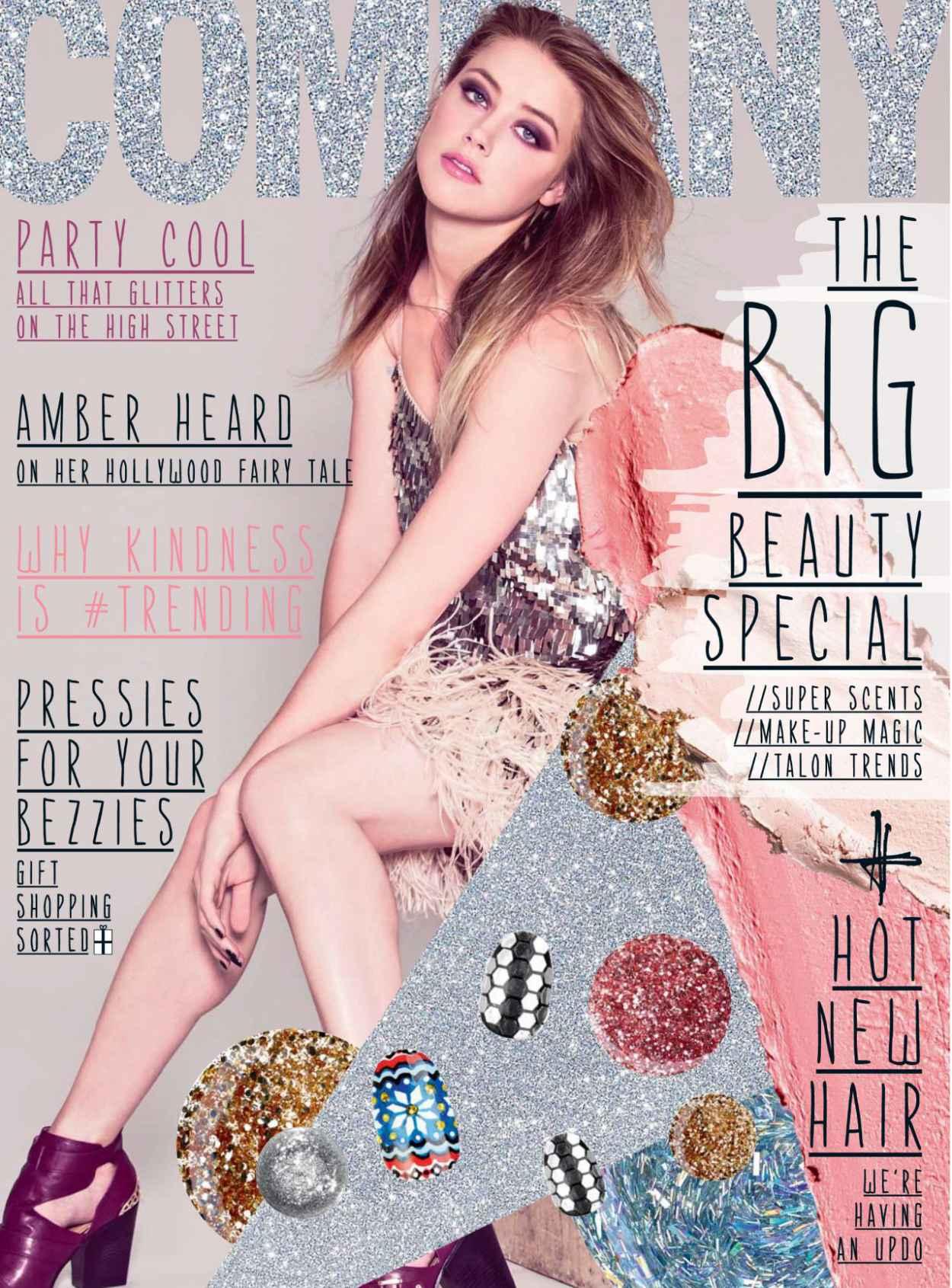 Amber Heard - COMPANY Magazine (UK) - December 2015 Issue-1